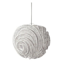 Serena & Lily - Spiral Pendant - This sculptural beauty showcases a technique traditionally used to create Thai fishing baskets.