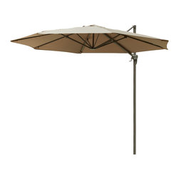 Great Deal Furniture - Alannah Outdoor Cantilever Patio Umbrella Canopy - The innovative design of the Alannah Folding Sun Canopy makes this piece a perfect shade solution for you and your guests. Add this canopy to any outdoor patio area to immediately give you and your guests the right protection you need from the elements. The height of the canopy covering is easily adjustable giving you personalized shade to fit your needs. Function and form go hand in hand with this durable piece, designed to give you all of the benefits of being outdoors at no cost to comfort.