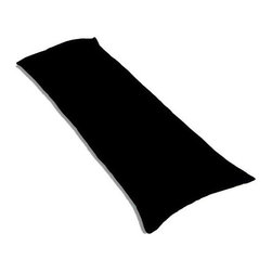 "SheetWorld - SheetWorld Butter Soft 100% Cotton Jersey Knit Body Pillow Case - Solid Black - SheetWorld makes the softest and most plush 100% cotton jersey knit body pillow cases on the market. The cotton t-shirt like jersey knit _ will greatly enhance the comfort and feel of the pillow, helping to give you a restful night sleep. These pillow cases are designed with a zipper along side the length of the pillow to easily put on and remove. There are over28 beautiful solid colors available in the same high quality fabric to complement almost any decor. Measures 20"" x 54"". Machine Washable and tumble dry medium. Proudly made in the USA!"