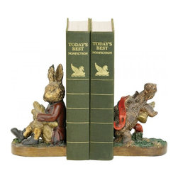 Sterling Industries - Pair Of Tortoise And Hare Bookends - Pair Of Tortoise And Hare Bookends