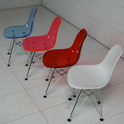 Kids Eames Style Bucket Chair - I am getting this style of chair in white for my dining room. Matching little ones for the mini ones? Yes, please.