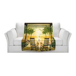 DiaNoche Designs - Fleece Throw Blanket by Mark Watts - Sunset Serenade - Original Artwork printed to an ultra soft fleece Blanket for a unique look and feel of your living room couch or bedroom space.  DiaNoche Designs uses images from artists all over the world to create Illuminated art, Canvas Art, Sheets, Pillows, Duvets, Blankets and many other items that you can print to.  Every purchase supports an artist!