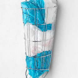 Spectrum Diversified Designs, Inc. - Plastic Bag Holder - Compactly store extra grocery bags for later use with this plastic bag keeper. The stainless steel construction is bound to provide years of future use.   7.25'' W x 16.5'' H x 4'' D Steel Imported