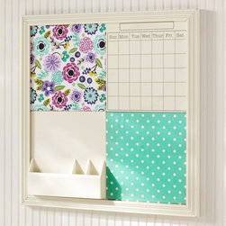 2 x 2 Abby Floral Style Tile 2.0 Set - Here's a calendar to keep the social schedule straight.