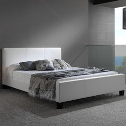 Euro Leather Platform Bed By Fashion Bed Group