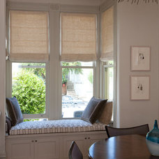 Traditional Roman Shades by Stitch Custom Furnishings