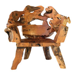 Groovystuff - Groovystuff Badland Root Chair in Honey - Features: