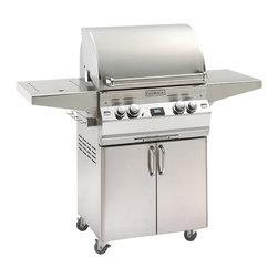 """Fire Magic - Aurora A430s1L1N62 Stand Alone NG Grill with Single Side Burner - A430 Stand Alone Grill with Single Side Burner & Factory Installed Left Side Infrared BurnerA430s Features: Cast stainless steel """"E"""" burners - guaranteed for life"""