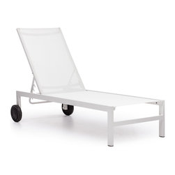 Zuo Modern - Castle Peak Lounge White - Sleek and modern, lounge in style with the Castle Peak Lounge Chair. The frame is made of aluminum and the cover is textile, a very durable polyester fiber mix that withstands UV rays and water.