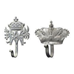 Sterling Industries - Sterling Industries 128-1018/S2 Set of 2 Metal Crown Hooks - Hook (2)