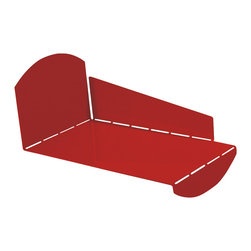 """Blu Dot - """"Blu Dot 2D:3D Desktop CD Holder, Fire Engine Red"""" - """"If you can fold, you can be organized. From flat to fabulous in no time. Each piece is available in gun metal, fire engine red and white. Think of it as functional origami without papercuts. """""""