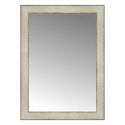 """Posters 2 Prints, LLC - 17"""" x 23"""" Libretto Antique Silver Custom Framed Mirror - 17"""" x 23"""" Custom Framed Mirror made by Posters 2 Prints. Standard glass with unrivaled selection of crafted mirror frames.  Protected with category II safety backing to keep glass fragments together should the mirror be accidentally broken.  Safe arrival guaranteed.  Made in the United States of America"""