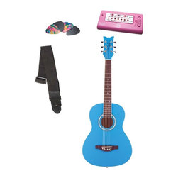 Alfred Publishing Co Inc - Daisy Rock Cotton Candy Blue Debutante Junior Miss Acoustic Guitar Pack - 14-721 - Shop for Toy Instruments from Hayneedle.com! Start your journey to the big stage with the Daisy Rock Cotton Candy Blue Debutante Junior Miss Acoustic Guitar Pack. This starter set is the perfect way to break into music and includes a short scale guitar picks tuner and strap. The guitar features a slim neck design and lightweight body that makes it easy to play. Its cotton candy blue finish looks amazing and gives it groovy-girl appeal. It comes set up and ready to play so strap it on tune up and get ready to get playing at home or on stage. About Alfred MusicAlfred Music helps the world experience the joy of making music. They were founded in New York in 1922 by composer and musician Alfred Piantadosi. In 1957 they moved to their current location in Los Angeles California and now have offices located around the world. Alfred Music is the world's largest educational music publisher. They develop products and services that make learning and playing music fun and rewarding. They produce educational reference pop and performance materials for teachers students professionals and hobbyists for every musical instrument.