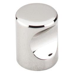"Top Knobs - Indent Knob 3/4"" - Polished Nickel - Width - 3/4"", Projection - 15/16"", Base Diameter - 13/16"""