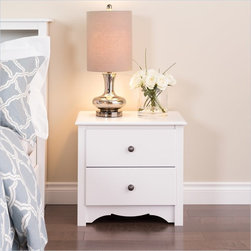 Prepac - Prepac Monterey White 2-Drawer Night Stand - Prepac - Nightstands - WDC2422 - The versatile Monterey Night Stand features two full sized drawers moldings and a scalloped apron or kick plate. Reminiscent of Shaker or Mission styles it will be the perfect addition to a bedroom with a country contemporary or traditional decor.