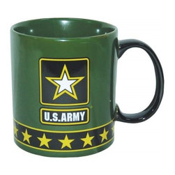 Westland - 4 Inch U.S. Army Ceramic Coffee Mug, Holds 14 Ounces - Green - This gorgeous 4 Inch U.S. Army Ceramic Coffee Mug, Holds 14 Ounces - Green has the finest details and highest quality you will find anywhere! 4 Inch U.S. Army Ceramic Coffee Mug, Holds 14 Ounces - Green is truly remarkable.