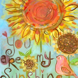 """Oopsy Daisy Canvas Wall Art for Kids Rooms - Carter Carpin's """"You Are My Sunshine"""" comes in size 24x30"""