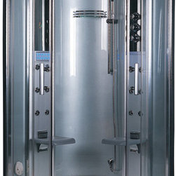 Ariel - Ariel Platinum DZ931F3 Steam Shower 47.2x47.2x87.5 - These fully loaded steam showers include massage jets, ceiling & handheld showerheads, chromotherapy, aromatherapy and built in radios to help maximize the therapeutic experience Dimensions:  47.2 x 47.2 x 87.5, ETL listed (US & Canada electrical safety) 220v, Computer control panel w/ timer for easy use, Steam sauna (3KW generator), 12 Acupressure Body Jets for Massage Therapy for Massage Therapy, Handheld and Rainfall Showerhead for Ultimate Experience, Cleaning Function for Disinfection, 2 foldable seats, FM Radio for Easy Listening , Ventilation fan, Overheat protection