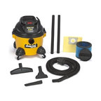 "Shop Vac - Shop-Vac 9650610 3.0-Peak Horsepower Right Stuff Wet/Dry Vacuum, 6-Gallon - Right Stuff 6 gal 3.0 Peak HP wet/dry vac. Tough poly tank  Lock-On positive connection hose system  and tool basket.     Cord Length: 12 Feet  Operation Sound Level: Quiet  Hose Size: 1.25"" Diameter  Warranty: 1 year  Lock-on Hose  Blower Feature  Onboard Accessory Storage.  Includes: Accessories:1-1/4"" Dia. x 8' Hose  Gulper Nozzle  Crevice Tool  Tool Holder  (2) Extension wands  Wet Dry nozzle  Filters: High-Quality Collection Bag  Ultra Web Filter. Performance: Air Flow:  143 (CFM) Sealed Pressure:  57 (inches) Electrical Ratings:  120V 60Hz 8.2Amps Peak Air Watts:  240  This item cannot be shipped to APO/FPO addresses. Please accept our apologies."