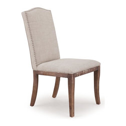 Zuo Modern - Upholstered Chair in Beige - Set of 2 - Set of 2. Warranty: One year. Made from polyester linen and oak wood. Seat width: 20.9 in.. Seat depth: 18 in.. Seat height: 17.7 in.. Overall: 20.9 in. W x 24 in. D x 39.6 in. H (36.5 lbs.)