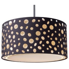 Pendant Lighting Enchantment Large River Stone Drum Pendant by Landmark Lighting