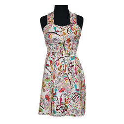 asd living - Cuckoo Birds Delilah Sweetheart Apron - Women - Fabulously feminine, this elegant apron makes it easy to stay chic while preparing dinner and ensures that any ensemble stays sparkling clean. �� 16'' W x 27'' H 100% cotton Machine wash; tumble dry Imported ��