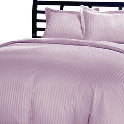 SCALA - 400TC 100% Egyptian Cotton Stripe Lilac Full XL Size Sheet Set - Redefine your everyday elegance with these luxuriously super soft Sheet Set . This is 100% Egyptian Cotton Superior quality Sheet Set that are truly worthy of a classy and elegant look. Full XL Size Sheet Set includes:1 Fitted Sheet 54 Inch (length) X 80 Inch (width) (Top surface measurement).1 Flat Sheet 81 Inch(length) X 96 Inch (width).2 Pillowcase 20 Inch (length) X 30 Inch (width).