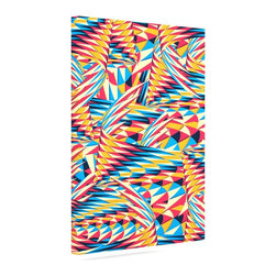 "Kess InHouse - Danny Ivan ""Painting Life"" Abstract Wrapped Art Canvas (8"" x 10"") - Bring your outdoor patio to life with this artistic outdoor canvas wrap featuring gorgeous artwork by KESS InHouse. These canvases are not only easy to hang and remove but also are the perfect addition to your patio collection. These canvases are stretched around a wooden frame and are built to withstand the elements and still look artistically fabulous. Decorating your patio and walls with these prints will add the splash of art and color that is needed to bring your patio collection together! With so many size options and artwork to choose from, there is no way to go wrong with these KESS Canvas Wraps!"