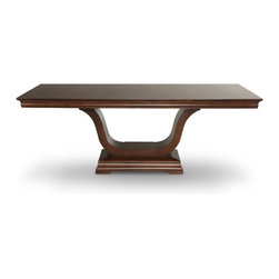 Woodcraft - Royale Pedestal Table - What a great way to add some curves to your dining room! This bent wood pedestal table is exciting yet understated, perfect for mixing and matching chairs and accessories. The spare underside also allows for ample leg room, so go ahead and invite that extra couple to your next dinner party.