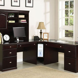 Acme Furniture - Cape Office Hutch and Desk in Espresso - 92030-92031 - Set includes Hutch and Desk