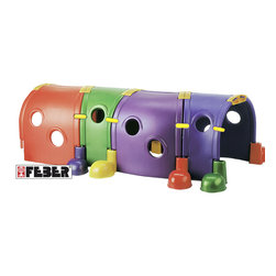 """Ecr4kids - Ecr4Kids Kids Room Play School Feber """"Gus"""" Extension 4 Section - Extension for the Feber Gus Climb-N-Crawl Caterpillar.Extension for the Feber Gus Climb-N-Crawl Caterpillar. IndoorOutdoor use. Climb on, in, and around. Four different colored sections create a sun-lit tunnel. Feet hold unit in place. Safety tested, non-toxic. Fade resistant.Note Adult supervision recommended Ages 3 and up"""
