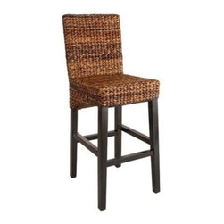 Andres Stool, Espresso - These rattan barstools have a traditional coastal look and would be perfect at any bar or kitchen island. I love the espresso color of the rattan weave.