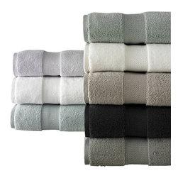 Luxor Linens - Ezio Luxury Towel Set, 3-Piece, Shadow Grey - Quick dry properties granted by zero twist construction. 500 gsm.