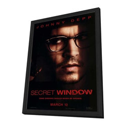 Secret Window 27 x 40 Movie Poster - Style A - in Deluxe Wood Frame - Secret Window 27 x 40 Movie Poster - Style A - in Deluxe Wood Frame.  Amazing movie poster, comes ready to hang, 27 x 40 inches poster size, and 29 x 42 inches in total size framed. Cast: John Turturro
