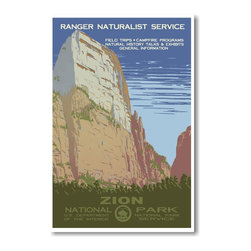 PosterEnvy - Zion National Park Utah - NEW Vintage World Travel Artwork Poster - Zion National Park Utah - NEW Vintage World Travel Artwork Poster