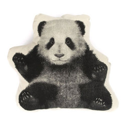 Salvor Fauna Panda Mini Cushion/Pillow Design By Ross Menuez - Designer Ross Menuez Material: Organic Cotton Dimensions: 14 x 14 inches Inspired by Victorian shaped pillows, these cushions or dolls are created with the graphics based on the first mass produced images from Nineteenth century illustrations. Ross Menuez has designed and developed everything from small aircraft, kitchen, office, and home furnishings to commercial interiors throughout Europe, U.S., and Japan. He founded Salvor Projects in 2003. His list of accomplishments: Finalist in 2009 Cooper-Hewitt National Design Award; Commissioned pieces for Mariko Mori and Bruce Weber; costume for Bjork; Menuez's line is currently sold in retailers around the world such as Isetan in Tokyo, Space Mue in Seoul, Maria Luisa in Paris, Maxfield and Barneys in Los Angeles, and Dover Street Market in London.