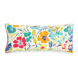 Pine Cone Hill - hot house summer pillow (15x35) - Make a muted backdrop zing with our tropical blooms and foliage on timeless cotton. Decorative piping; feather insert included.��This item comes in��multicolor.��This item size is��35w 15h.