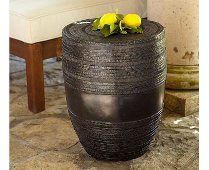 Eclectic Outdoor Side Tables by Pottery Barn