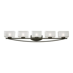 Z-Lite - Z-Lite 3006-5V Cardine 5 Light Bathroom Vanity Light with Glass Shade - Features: