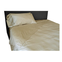 BrandWave - Sheet Set, Sand - Our 100% cotton sheets are made from the finest 350-thread count sateen. These sheets are unrivaled in their softness and durability. They will only get more comfortable with each wash.