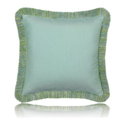 mist fringed pillow (17x17)