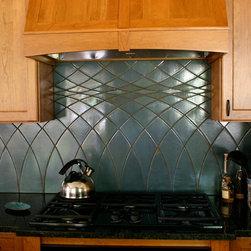 Prairie Lattice Kitchen Backsplash - North Prairie Tileworks, Inc.