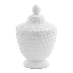 GO Home Ltd - GO Home Ltd Country Chic Opal White Bumps Jar -