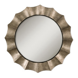 Uttermost - Gotham Unique Antique Silver Mirror - Mirrors reflect and multiply light so if you have a space that needs to be opened up, think about a mirror. This generous mirror has an antique silver leaf finish and would look elegant in your dining area above a sideboard set with candles and roses. Think luxe to the nth degree.