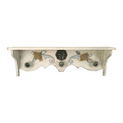 Vintage Wood Shabby Chic Wall Shelf - *Adding a vintage touch to any room, the Shabby Chic wall shelf is a great addition to any wall space.