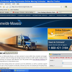 Free Moving Estimates provides Moving Estimates online & By Phone