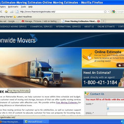 Free Moving Estimates provides Moving Estimates online & By Phone - Free moving estimates offers moving estimates online and by phone for household and commercial moving storage services, for more info call at 8004213184