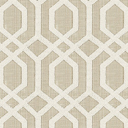 "Ballard Designs - Halyard Natural Fabric by the Yard - Content: 86% polyester, 14% cotton base with 100% polyester embroidery. Repeat: Non-railroaded fabric with 9 1/2"" repeat. Care: Dry Clean. Width: 54"" wide. Natural linen-like cotton blend embroidered in a high/low lattice of cream polyester.. . . . Because fabrics are available in whole-yard increments only, please round your yardage up to the next whole number if your project calls for fractions of a yard. To order fabric for Ballard Customer's-Own-Material (COM) items, please refer to the order instructions provided for each product. Ballard offers free fabric swatches: $5.95 Shipping and Processing, ten swatch maximum. Sorry, cut fabric is non-returnable."