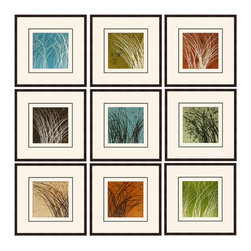 """Mantle Art Company - Hochstatter """"Wind & Rain"""" fine art print - Beautiful modern art custom framed by designers to bring out the best in this piece of art. Made in the USA"""