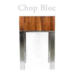 Butcher Blocks - The Industrial Butcher Block adds a rugged look to your Butcher Block Arsenal. Made with superior stainless steel, brushed to perfection, this is one Butcher Block you will love to use time and time again. The superior Walnut wood make this one of the most beautiful Butcher Blocks on the market today.